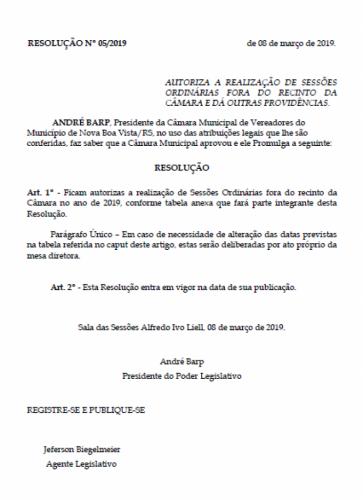 PODER LEGISLATIVO REALIZARÁ SESSÕES ORDINÁRIAS NO INTERIOR